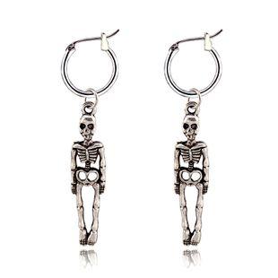 tendance de la mode boucles d'oreilles rétro punk crâne boucles d'oreilles personnalité os humain anneau d'oreille boucle d'oreille vente chaude en gros nihaojewelry NHGO223382's discount tags