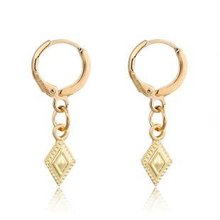mode tendance bijoux rétro simple diamant pendentif boucles d'oreilles géométrique petite boucle d'oreille boucle d'oreille en gros nihaojewelry NHGO223383's discount tags
