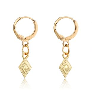 fashion trend jewelry retro simple diamond pendant earrings geometric small ear ring ear buckle wholesale nihaojewelry NHGO223383's discount tags