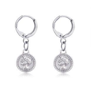 bijoux chauds vintage tête de gravure boucles d'oreilles pièce ronde boucle d'oreille boucle d'oreille en gros nihaojewelry NHGO223387's discount tags