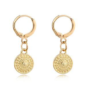 Boucles d'oreilles tendance de la mode rétro simples boucles d'oreilles soleil géométriques rondes petites boucles d'oreilles boucle d'oreille en gros nihaojewelry NHGO223389's discount tags