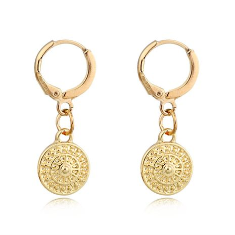 fashion trend earrings retro simple sun earrings geometric round small earrings ear buckle wholesale nihaojewelry NHGO223389's discount tags