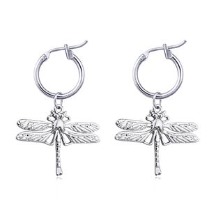 fashion trend jewelry cute exaggerated big dragonfly pendant earrings animal ear buckle jewelry hot sale wholesale nihaojewelry NHGO223390's discount tags