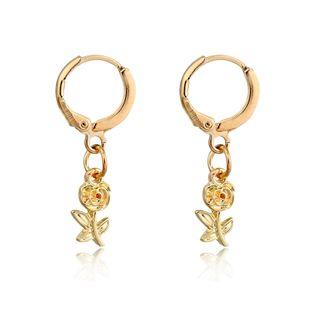 hot-selling jewelry trend cute delicate small flower earrings rose mini earrings wholesale nihaojewelry NHGO223391's discount tags