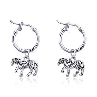 fashion animal hoop earrings retro cute pony pendant ear ring ear buckle hot sale wholesale nihaojewelry NHGO223395's discount tags