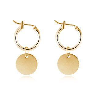 vente chaude simple brillant petit pendentif rond anneau d'oreille rond petites boucles d'oreilles boucle d'oreille en gros nihaojewelry NHGO223397's discount tags