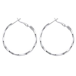 fashion exaggerated 925 silver needle large circle earrings spiral pattern round earrings wholesale nihaojewelry NHGO223398's discount tags