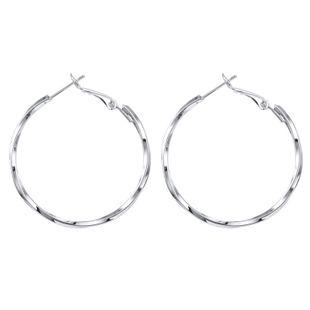 mode exagéré 925 argent aiguille grand cercle boucles d'oreilles motif en spirale boucles d'oreilles rondes en gros nihaojewelry NHGO223398's discount tags