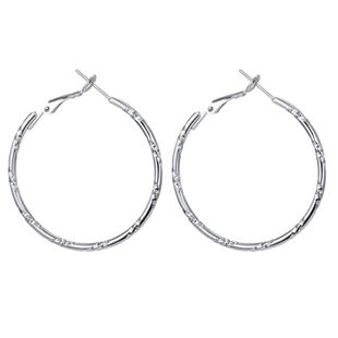 new S925 silver needle large circle earrings exaggerated fashion simple circle earrings  wholesale nihaojewelry NHGO223399's discount tags