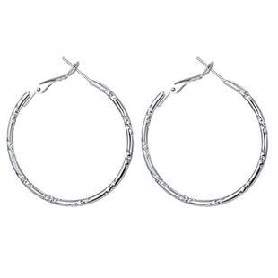 nouveau S925 argent aiguille grand cercle boucles d'oreilles exagéré mode simple cercle boucles d'oreilles en gros nihaojewelry NHGO223399's discount tags