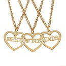 hot selling fashion new  funds personality Best Friends good friends threepiece girlfriends heartshaped necklace wholesale nihaojewelry NHMO223435