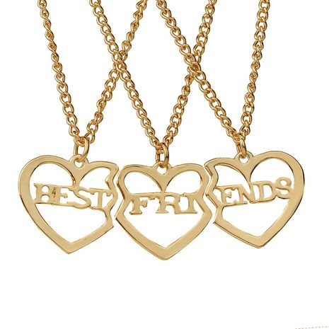 hot selling fashion new  funds personality Best Friends good friends three-piece girlfriends heart-shaped necklace wholesale nihaojewelry NHMO223435's discount tags