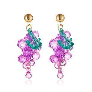 summer new purple earrings personality simple flowers earrings S925 silver needle earrings wholesale nihaojewelry NHMO223439's discount tags
