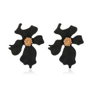 new earrings simple spray paint large petal earrings ladies temperament exaggerated flower earrings wholesale nihaojewelry NHMO223443's discount tags