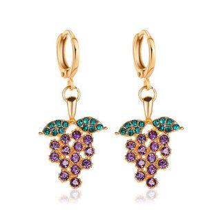 New  earrings personality fruit earrings diamond earrings with grapes elegant temperament tassel grape earrings wholesale nihaojewelry NHMO223446's discount tags