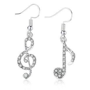mode nouvelles notes de musique en forme de diamant tempérament boucles d'oreilles asymétriques dames personnalité sauvage musique symbole boucles d'oreilles en gros nihaojewelry NHMO223449's discount tags