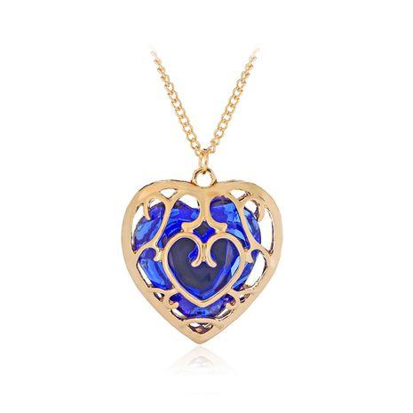 collier seliing chaud la légende de Zelda 2 évidé collier de cristal d'amour en gros niihaojewelry NHMO223459's discount tags