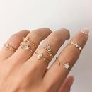star moon ring set 7 piece set creative retro simple joint ring wholesale niihaojewelry NHPJ223468