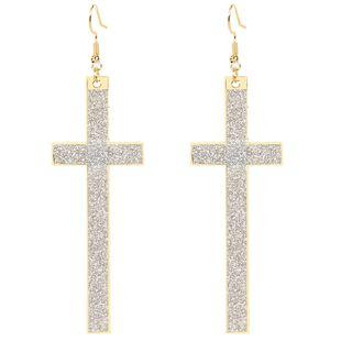 fashion geometric frosted earrings fashion alloy earrings retro style earrings wholesale nihaojewelry NHCT223470's discount tags