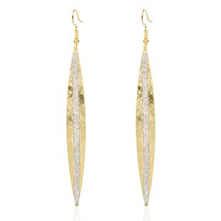 fashion willow leaf alloy frosted earrings personality creative metal earrings wholesale nihaojewelry NHCT223471's discount tags