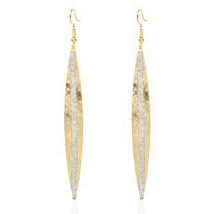 mode saule feuille alliage boucles d'oreilles givrées personnalité créative boucles d'oreilles en métal en gros nihaojewelry NHCT223471's discount tags