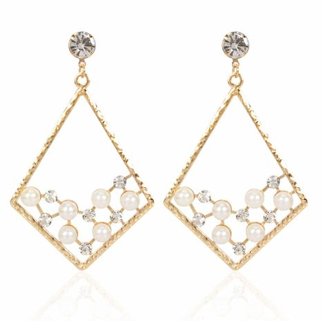 fashion style fashion imitation pearl earrings personality simple diamond geometric earrings wholesale nihaojewelry NHCT223476's discount tags
