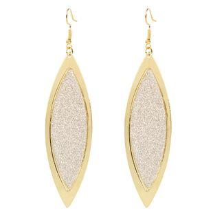 boucles d'oreilles feuille de mode personnalité simple métal boucles d'oreilles givrées en gros nihaojewelry NHCT223480's discount tags