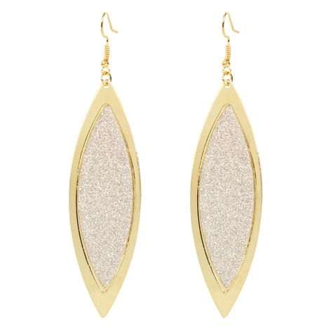 fashion leaf earrings personality simple metal frosted earrings wholesale nihaojewelry NHCT223480's discount tags