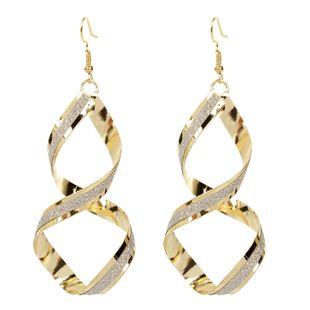 fashion geometric spiral cross-border wild earrings ladies personality wild retro earrings wholesale nihaojewelry NHCT223485's discount tags