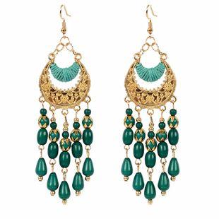 Ethnic style earrings water drop tassel earrings Bohemian crescent earrings wholesale nihaojewelry NHCT223488's discount tags