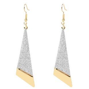fashion earrings long triangle frosted hollow earrings personalized earrings wholesale nihaojewelry NHCT223491's discount tags
