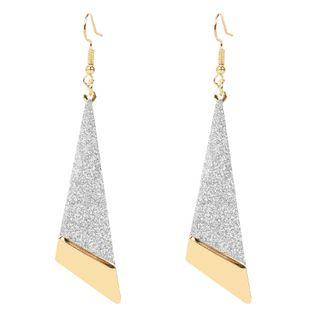 boucles d'oreilles de mode triangle long boucles d'oreilles givrées creuses boucles d'oreilles personnalisées en gros nihaojewelry NHCT223491's discount tags