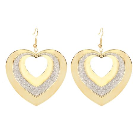 fashion love earrings personality alloy retro style hollow earrings wholesale nihaojewelry NHCT223493's discount tags