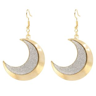 alloy frosted moon earrings style simple temperament fashion earrings wholesale nihaojewelry NHCT223494's discount tags