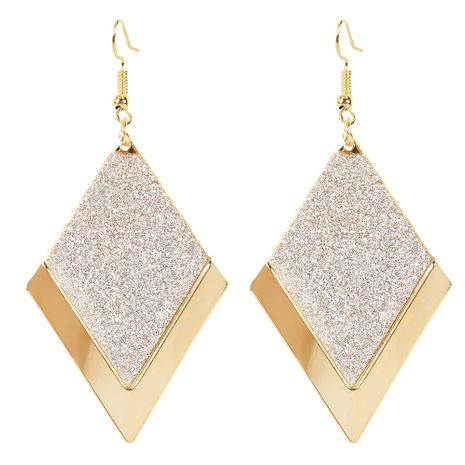 simple wild diamond frosted earrings personality European and American retro earrings wholesale nihaojewelry NHCT223495's discount tags