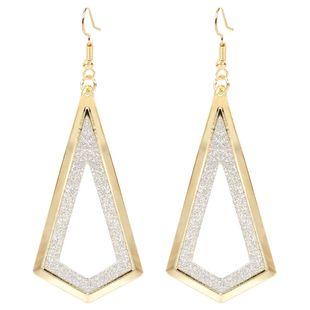 boucles d'oreilles de mode diamant givré boucles d'oreilles creuses alliage simple rétro boucles d'oreilles en gros nihaojewelry NHCT223496's discount tags