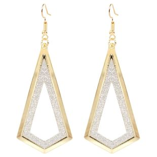 fashion earrings frosted diamond hollow earrings simple alloy retro earrings wholesale nihaojewelry NHCT223496's discount tags