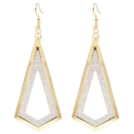 fashion earrings frosted diamond hollow earrings simple alloy retro earrings wholesale nihaojewelry NHCT223496's discount tags
