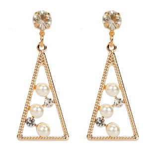 personality simple temperament alloy diamond pearl earrings fashion earrings wholesale nihaojewelry NHCT223497's discount tags