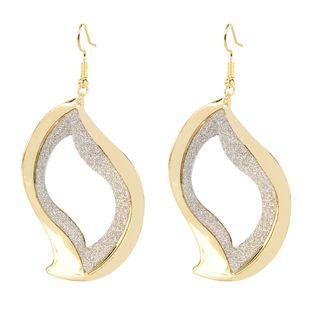 style earrings geometric hollow frosted earrings simple fashion wild earrings wholesale nihaojewelry NHCT223502's discount tags