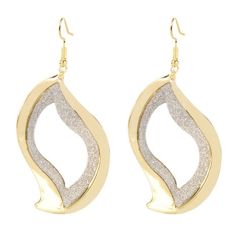 style earrings geometric hollow frosted earrings simple fashion wild earrings wholesale nihaojewelry NHCT223502's discount tags