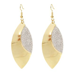 simple leaf earrings fashion alloy frosted earrings retro style earrings wholesale nihaojewelry NHCT223503's discount tags