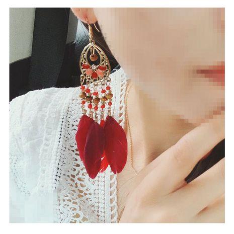 boucles d'oreilles pompon de mode exagérée alliage géométrique boucles d'oreilles goutte géométrique en gros nihaojewelry NHCT223507's discount tags