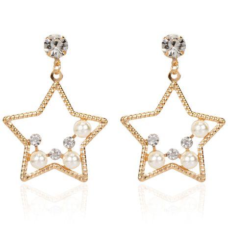 mode tempérament imitation perle alliage étoiles boucles d'oreilles sauvages personnalité boucles d'oreilles exagérées en gros nihaojewelry NHCT223510's discount tags