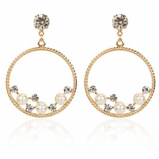 fashion exaggerated retro alloy earrings fashion simple personality wild round earrings wholesale nihaojewelry NHCT223511's discount tags