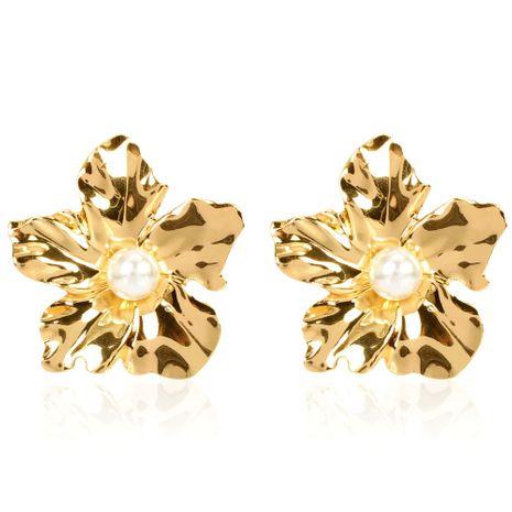 personnalité simple boucles d'oreilles fleur à la main mode sauvage tempérament boucles d'oreilles en gros nihaojewelry NHCT223513's discount tags
