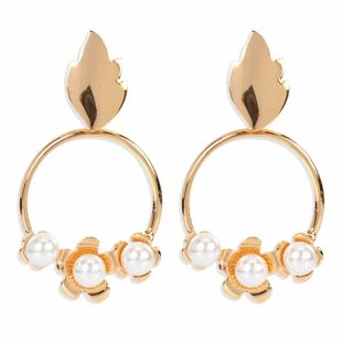 fashion retro alloy earrings atmospheric metal personality simple round earrings wholesale nihaojewelry NHCT223514's discount tags