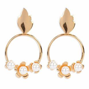 Boucles d'oreilles en alliage rétro de mode personnalité en métal atmosphérique simples boucles d'oreilles rondes en gros nihaojewelry NHCT223514's discount tags