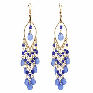 fashion style sweet personality simple earrings boho style exaggerated fashion bead tassel wholesale nihaojewelry NHCT223516's discount tags