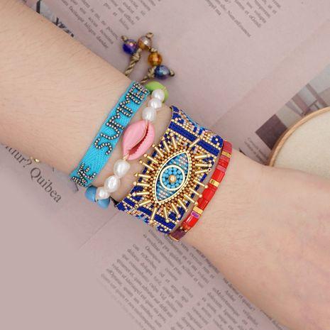 Miyuki rice beads weave lucky eye handmade jewelry simple bracelet natural freshwater pearl wholesale nihaojewelry NHGW223538's discount tags